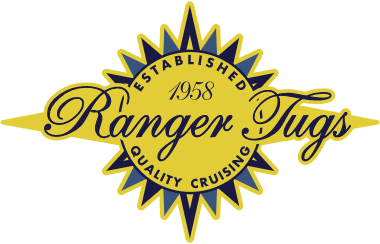 The Ranger Tugs logo on a clear background.